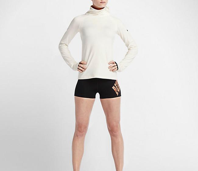 Nike Pro Warm Emboss Heights Vixen Zip maglia running.
