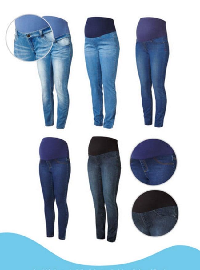 3e087a8a64c1 Con le proposte moda premaman primavera-estate  Prenatal propone diversi  modelli di pantaloni in denim a partire da 29