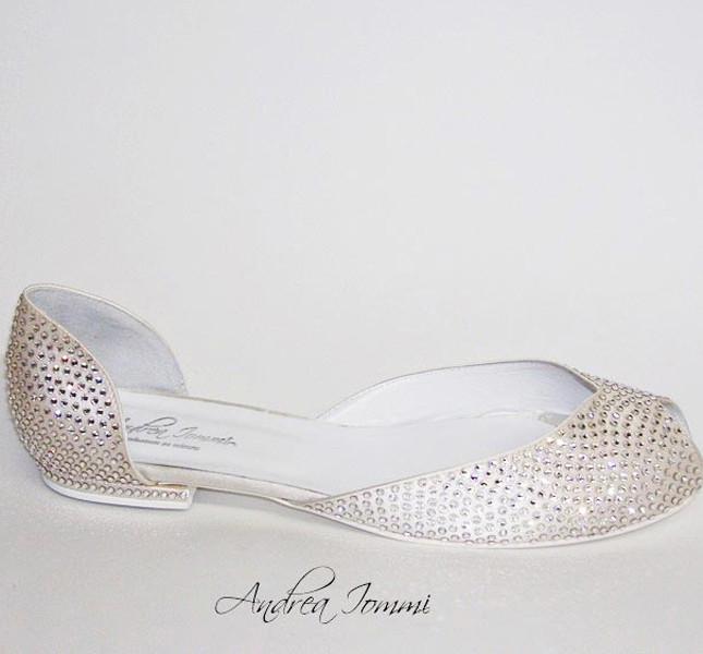 new concept 99771 4fe61 Scarpe da sposa: comode, basse ma… bellissime | UnaDonna