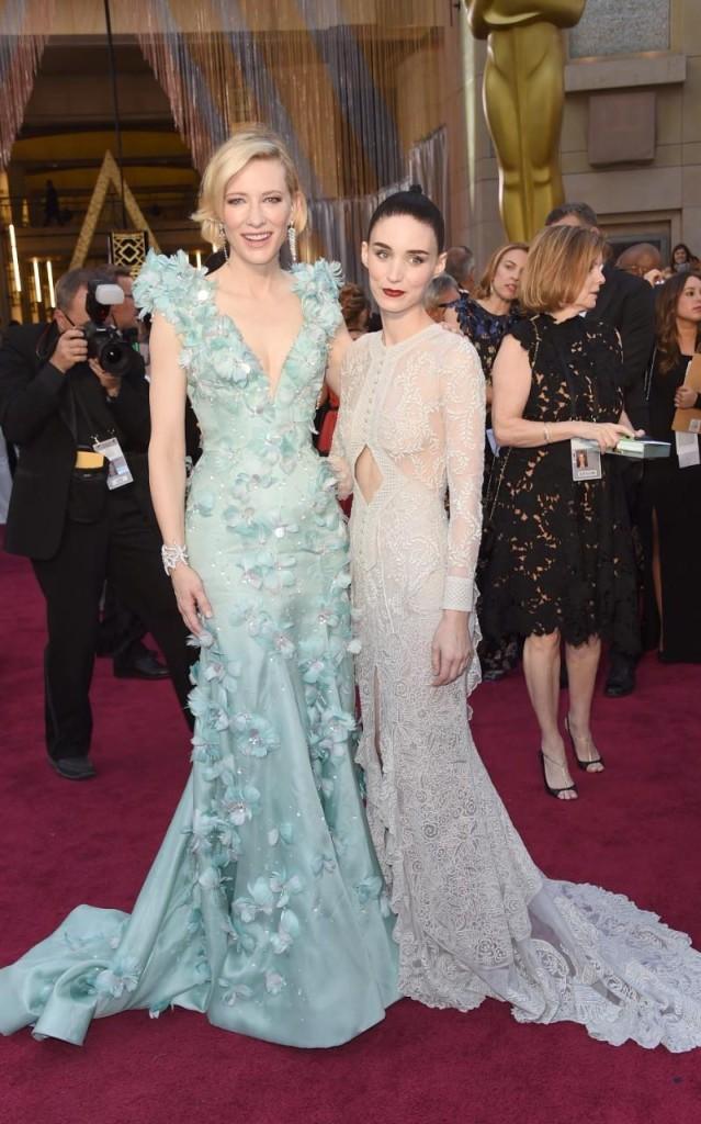 Cate Blanchett e Rooney Mara in uno scatto prima della premiazione