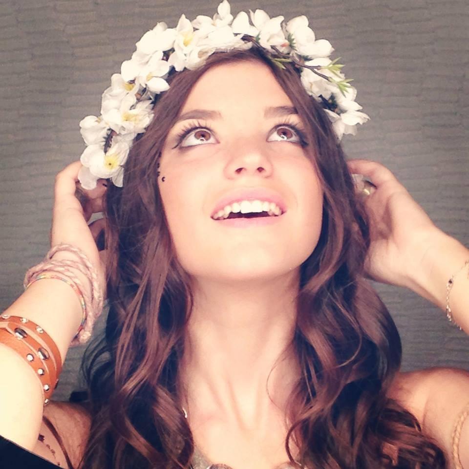 Chiara, cantante della squadra blu