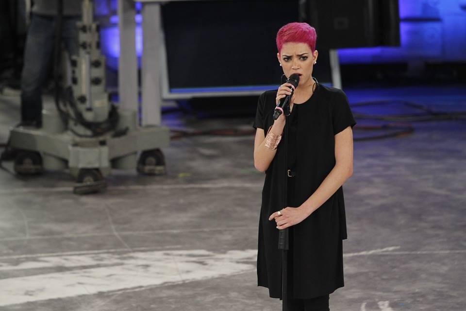 Elodie, cantante della squadra bianca