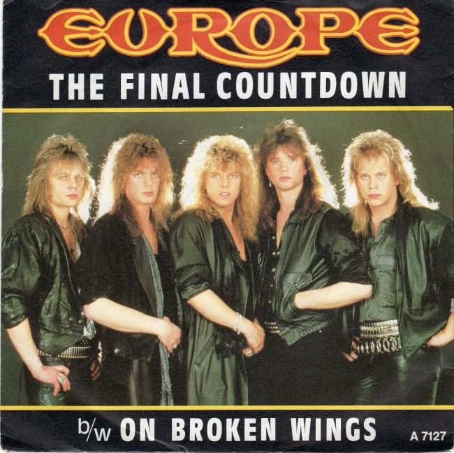Gli Europe negli anni '80 nella copertina dell'album The Final Countdown.