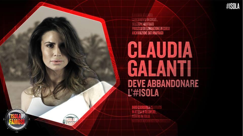 È Claudia Galanti l'eliminata della secondo puntata dell'Isola dei Famosi.