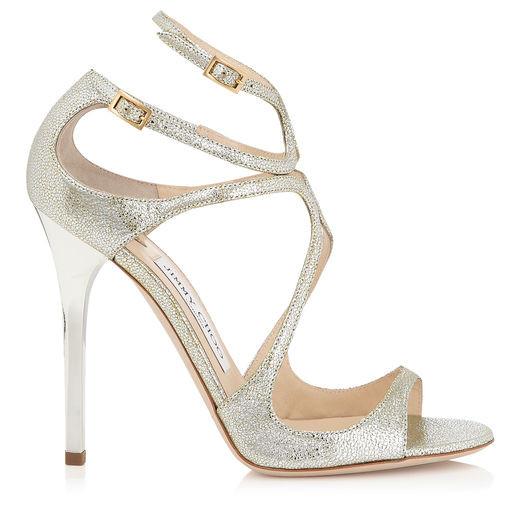 Jimmy Choo, modello Lance, sandalo gioiello con glitter