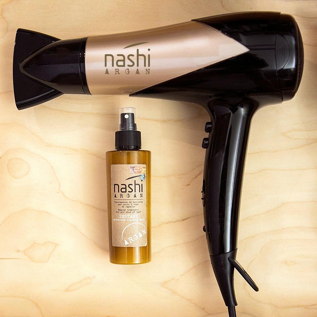 Nashi Argan Instant, ideale per una piega più veloce e senza effetto crespo