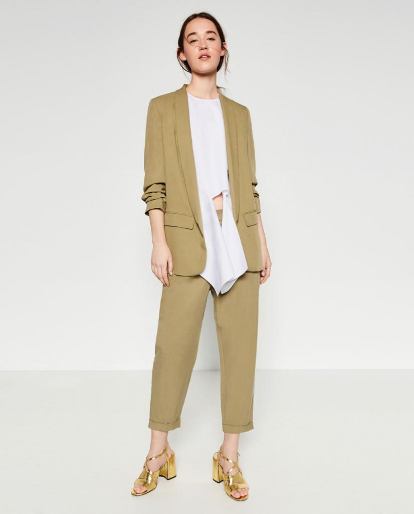 Giacca e pantalone alla caviglia - Zara P/E 2016.