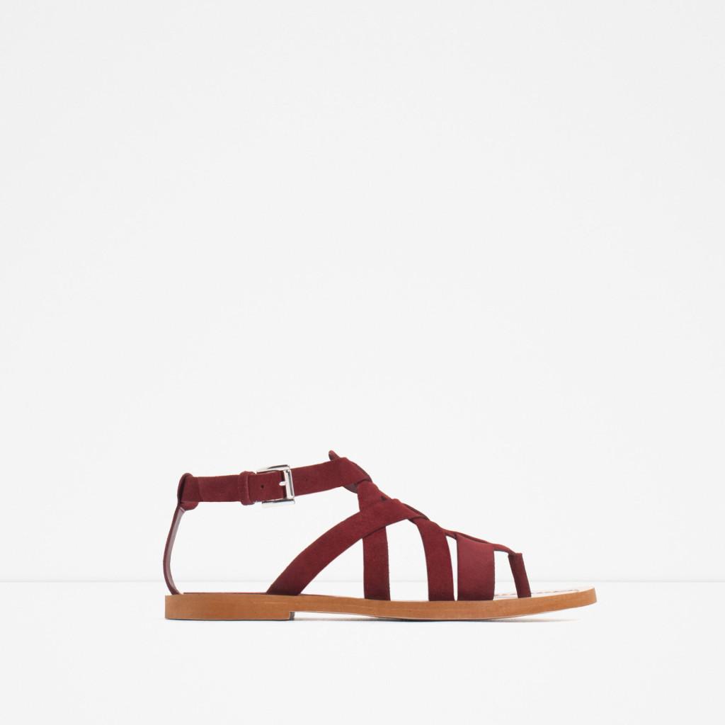 Sandalo basso con fasce - Zara P/E 2016.