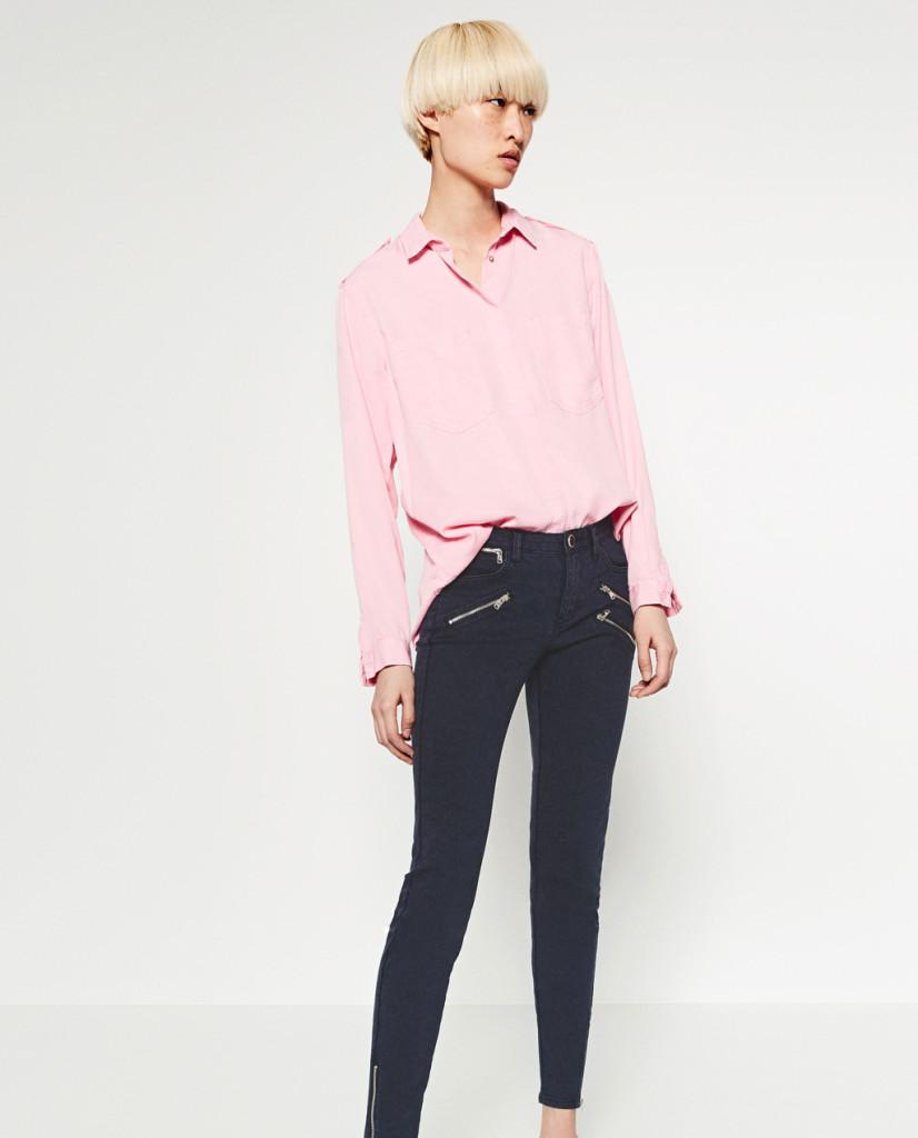 Camicia rosa confetto - Zara P/E 2016.