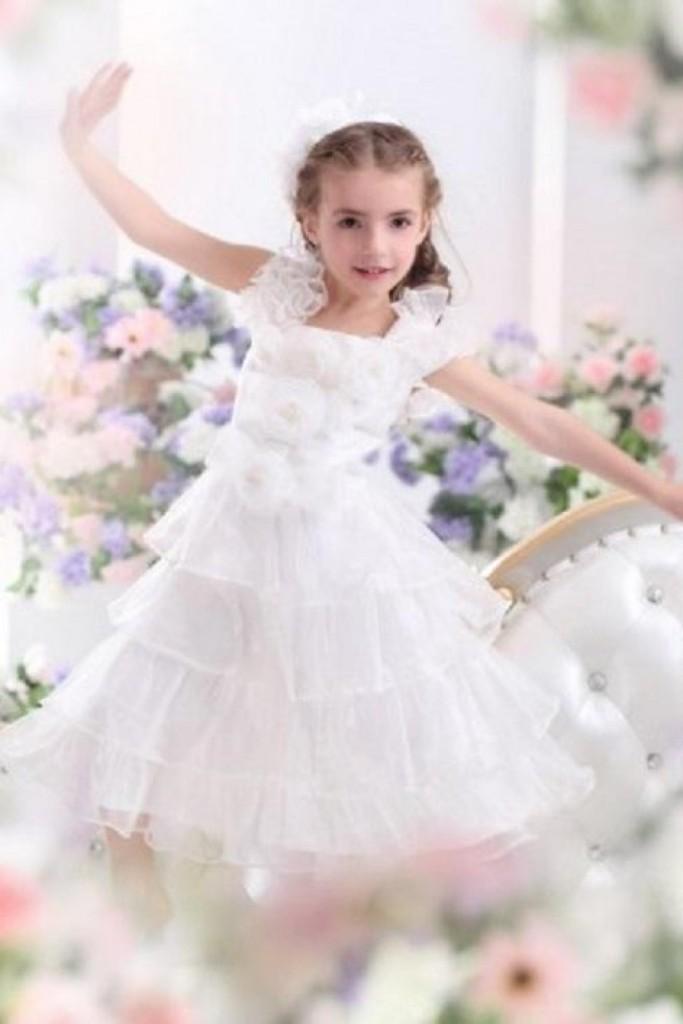 Abito cerimonia bambina in organza e raso - foto by sposamore  Abito  damigella ... a20473361ab