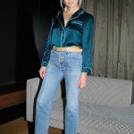 Jeans e camicia seta pajamas