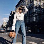 Jeans e camicia mannish style