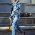 Jeans e giubbotto in denim rock 'n' roll