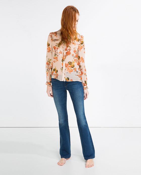 Jenas flare vita media (Zara)