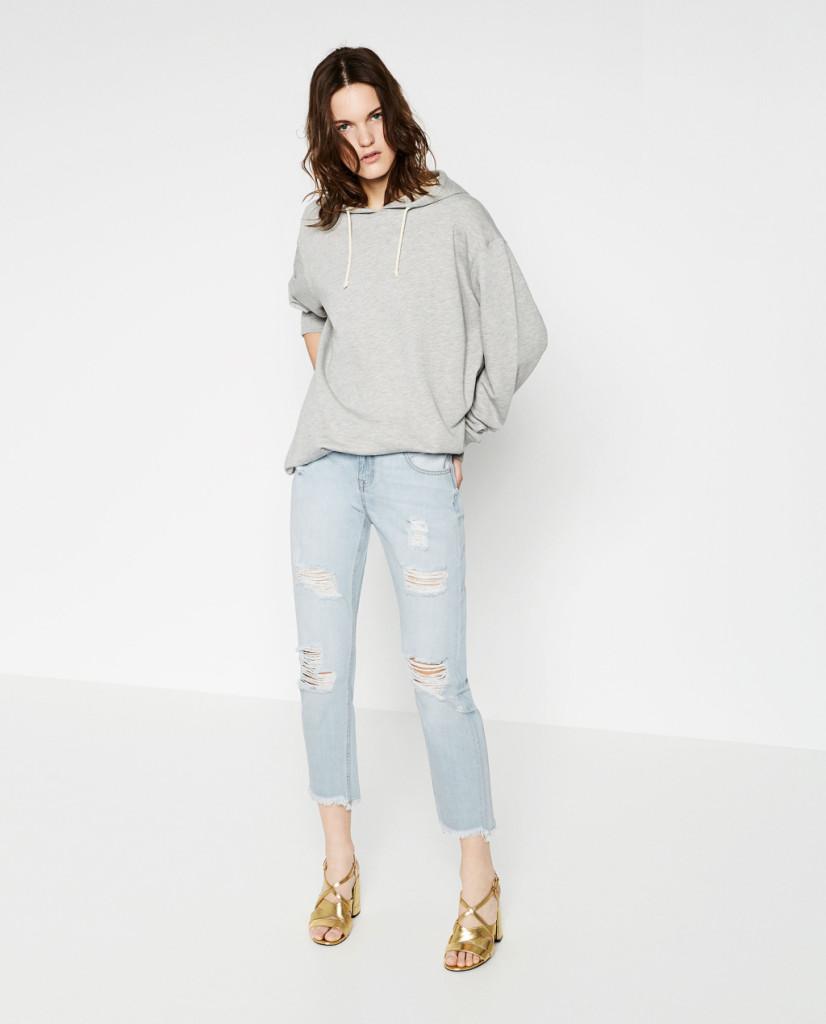 Jeans relax vita media (Zara)