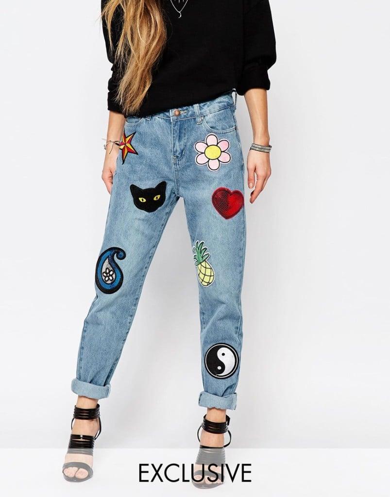 Jeans con toppe Liquor & Poker (Asos)