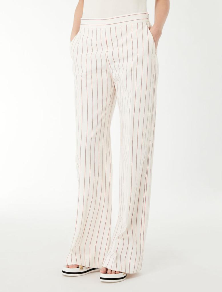 Max Mara pantaloni righe  in jacquard di cotone.
