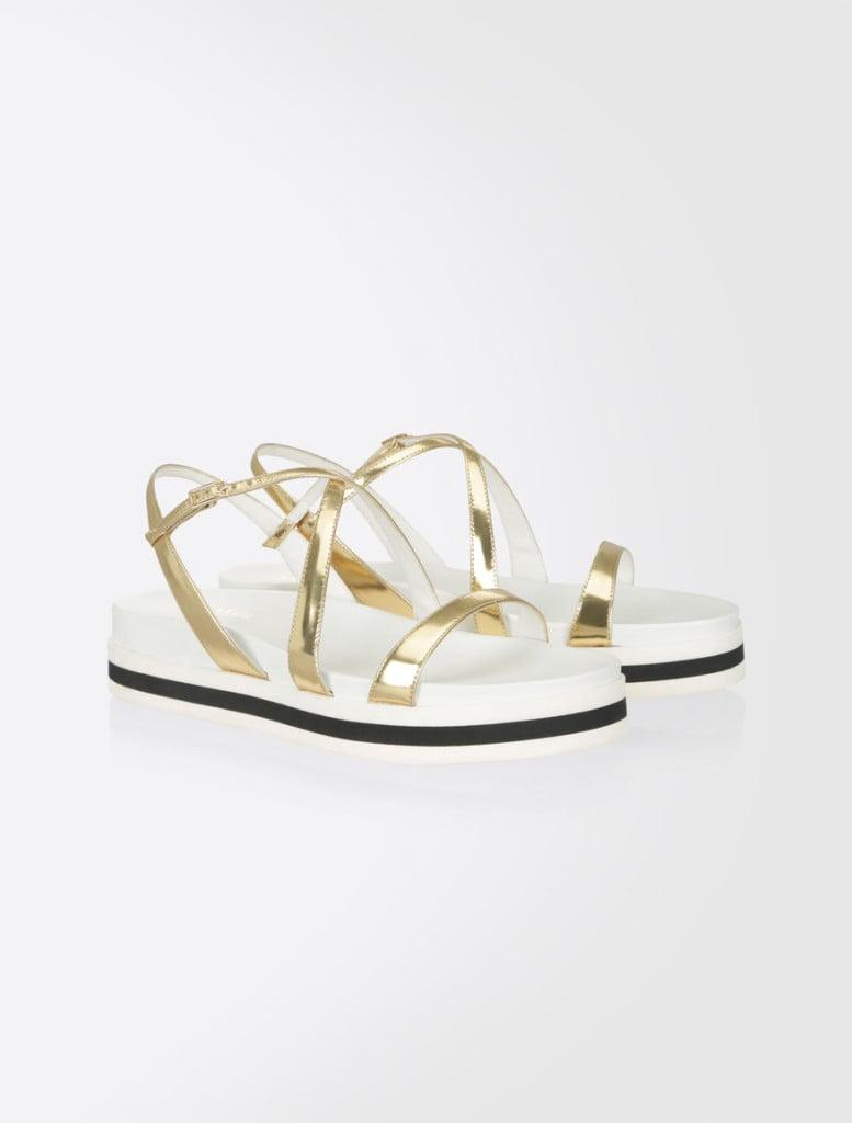 Max Mara sandali flat intrecciati.