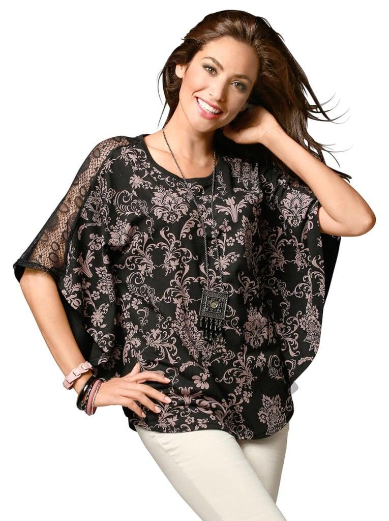 Moda Vilona blusa fantasia plus size.