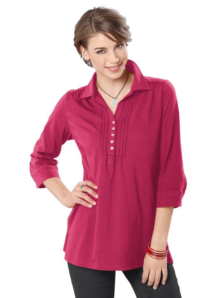 Moda Vilona tunica di maglia color Marsala.