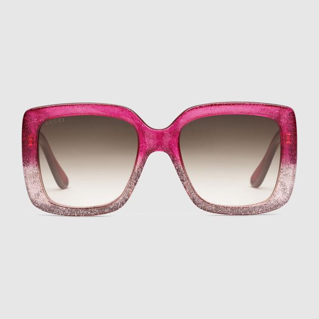 Occhiali da sole quadrati in optyl Gucci