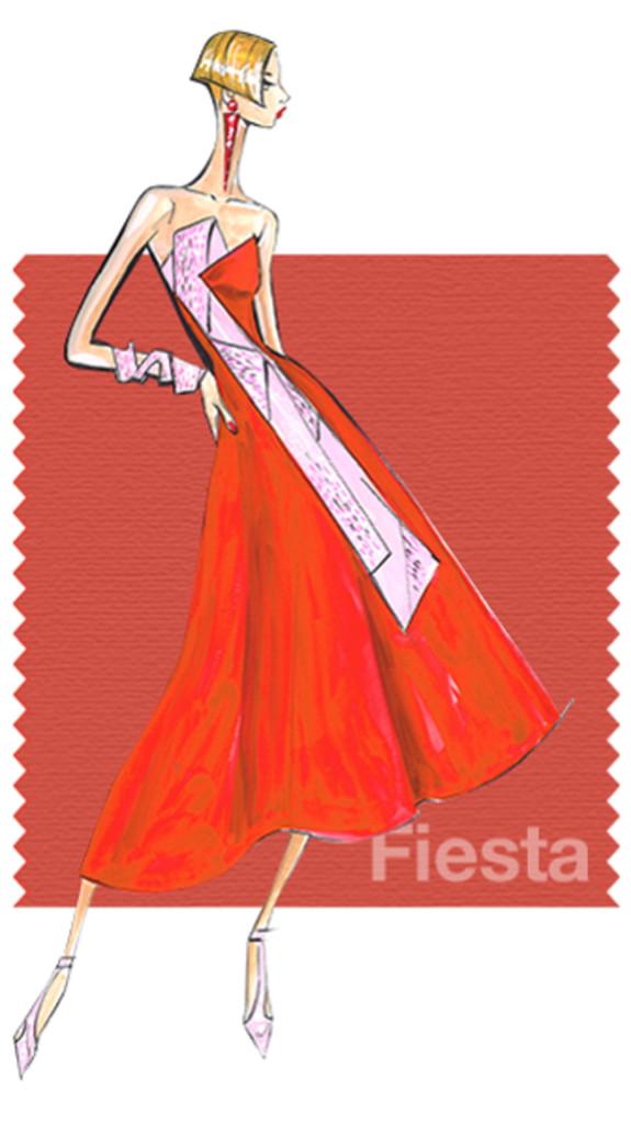 Pantone Fiesta è un rosso forte e fiero.