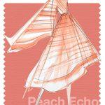 Pantone Peach Echo arancione