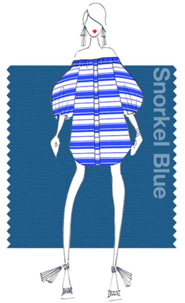 Pantone Snorkel Blue è un blu navy giovane e frizzante.