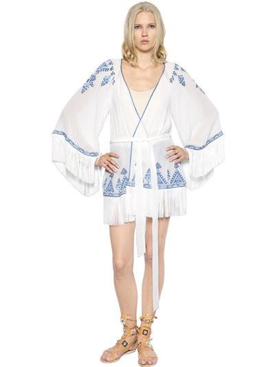Talitha abito frange modello kimono.