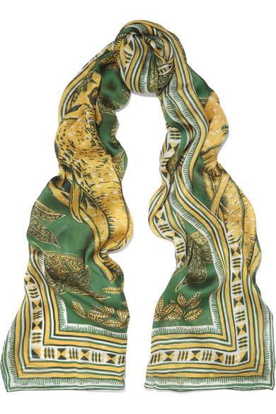 Valentino foulard in seta con elefanti.