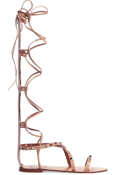 Valentino sandali da schiava della linea Rockstud.