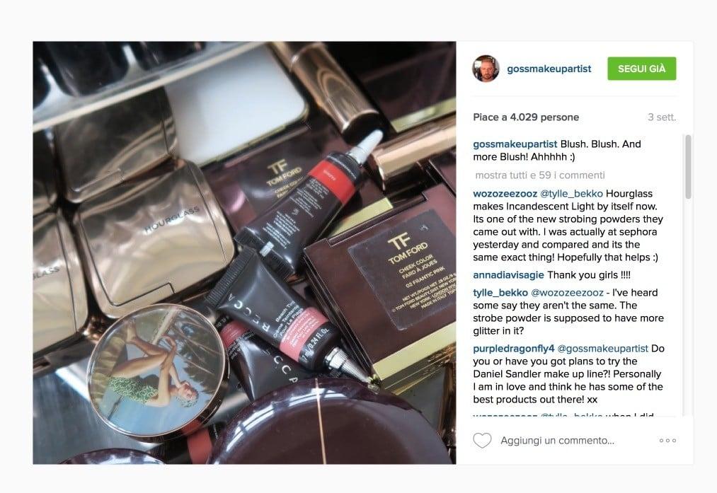 Wayne Goss - gossmakeupartist Instagram