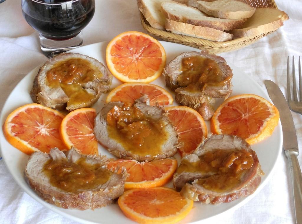 Arrosto in salsa di arancia