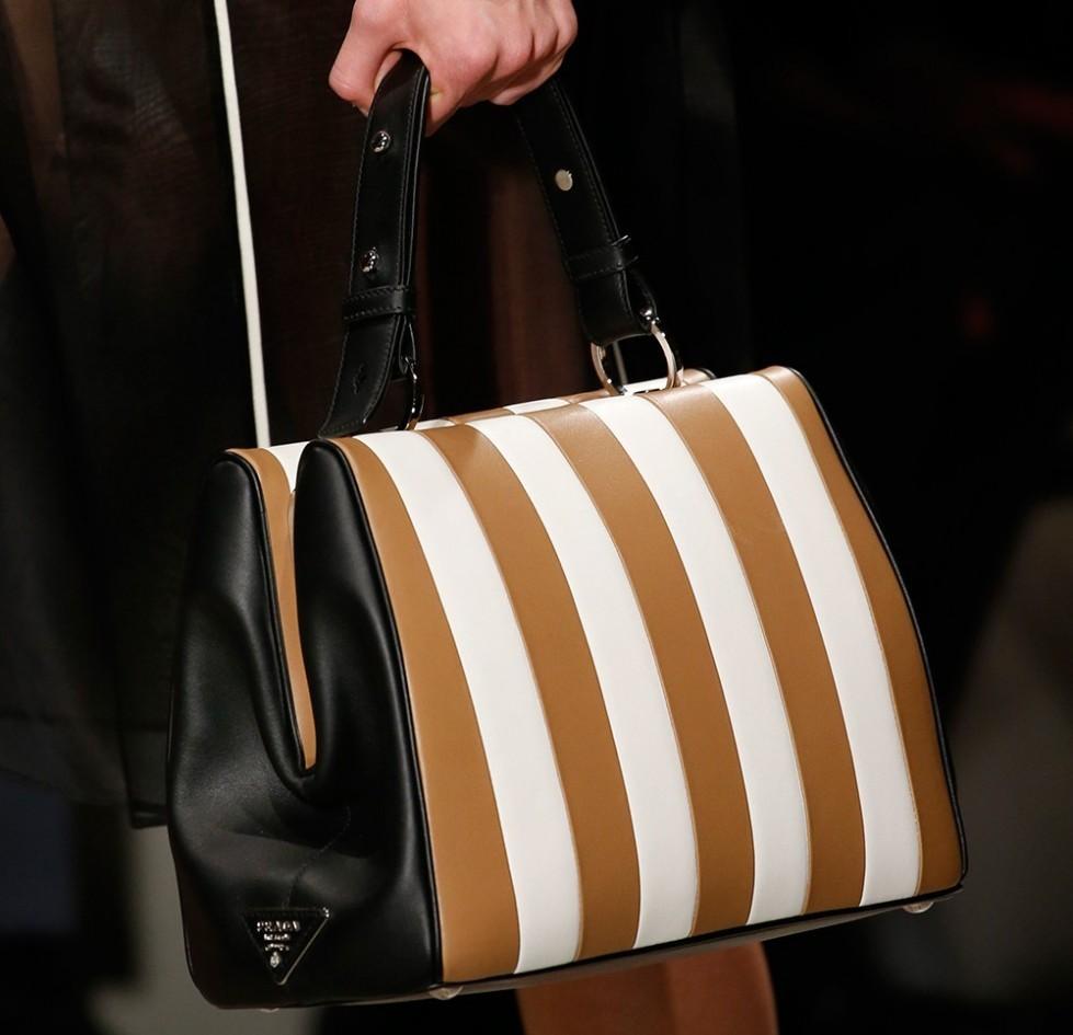 Handbag a righe dalla collezione di borse Prada