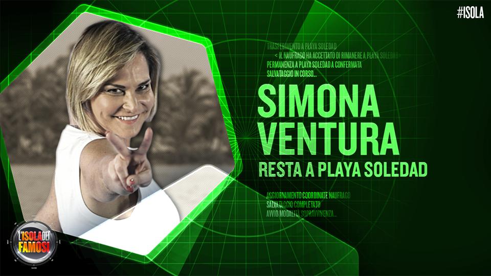 Simona Ventura viene eliminata ma le viene data la possibilità di restare su Playa Soledad
