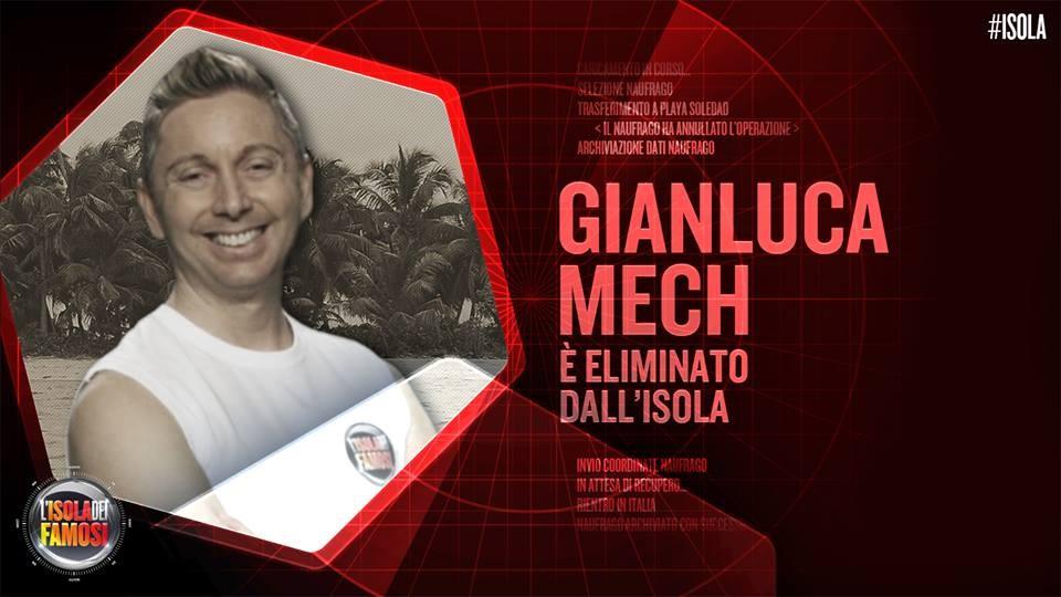 Gianluca Mech è l'ultimo eliminato dell'isola dei famosi