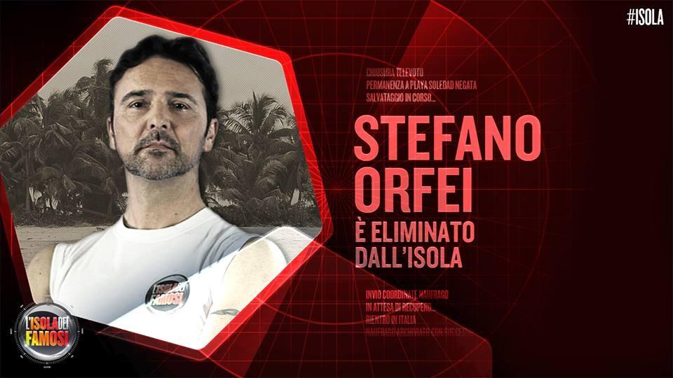 Stefano Orfei è il secondo eliminato dell'ultima puntata dell'Isola dei famosi