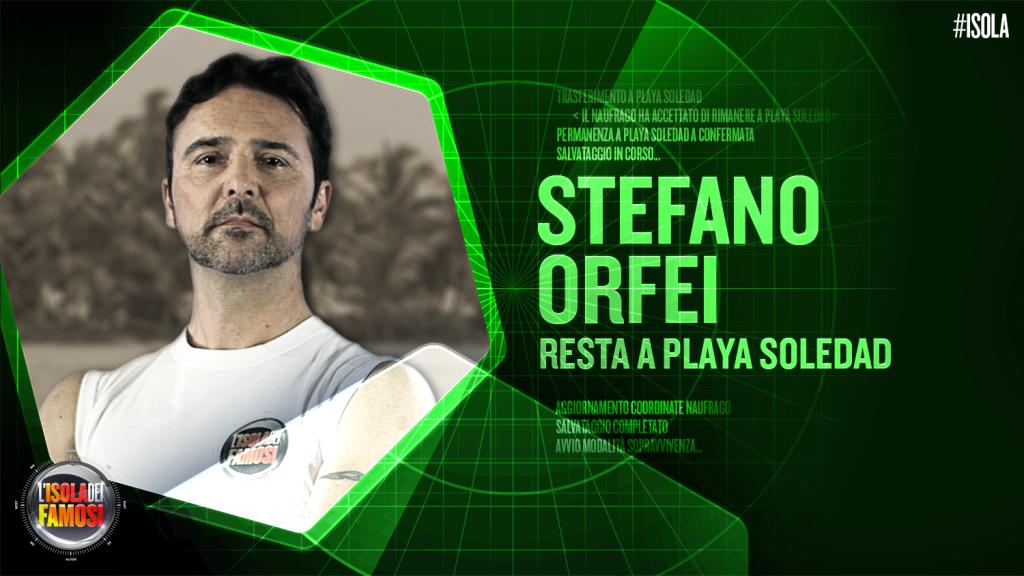 Stefano Orfei viene eliminato ma sfida la Ventura al televoto e vince, restando così a Playa Soledad