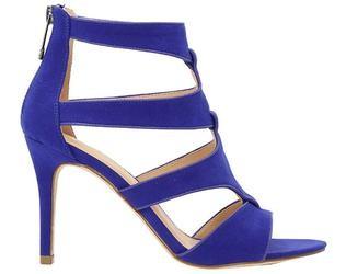 Primadonna sandalo con tacco blu