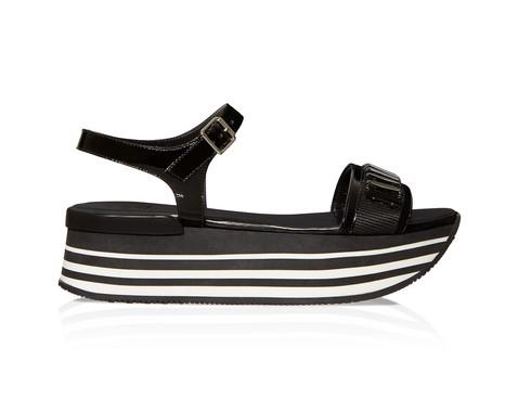 Hogan sandalo platform nero