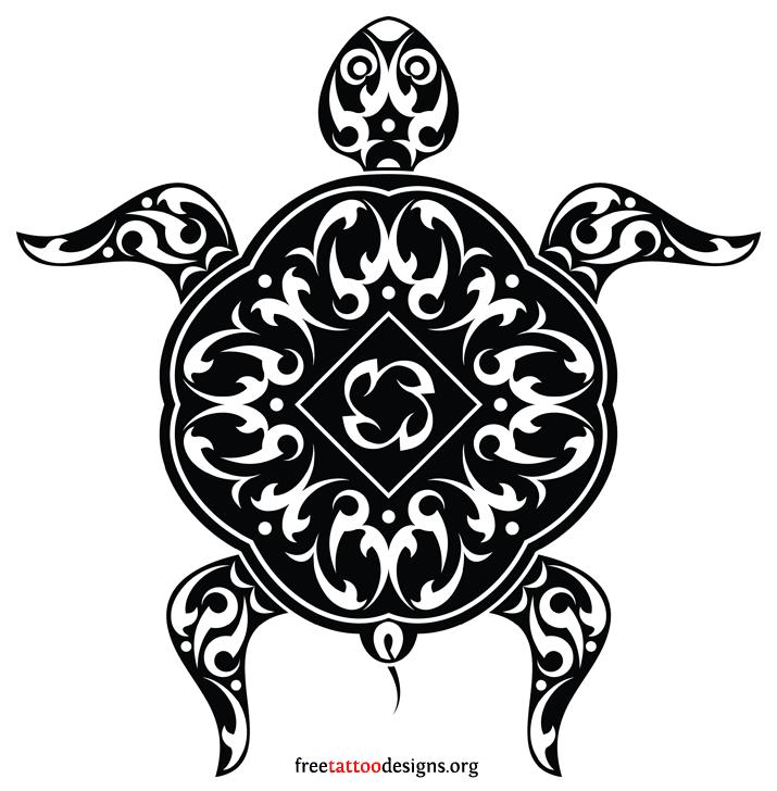 La tartaruga maori è il simbolo per eccellenza che ricorda la famiglia. Foto di freetattoodesign