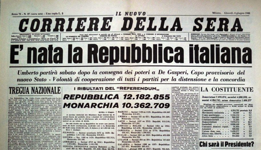 Corriere repubblica 1946