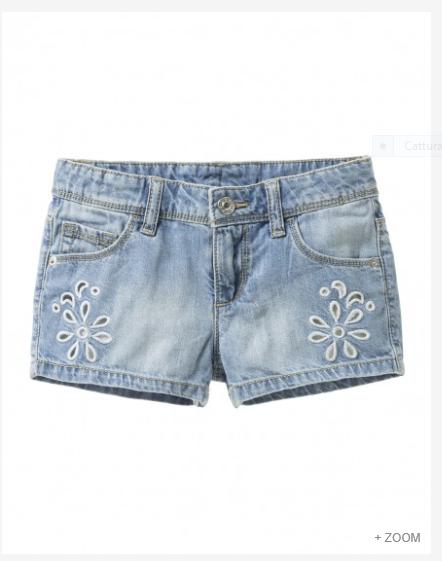 Shorts con ricamo - Benetton