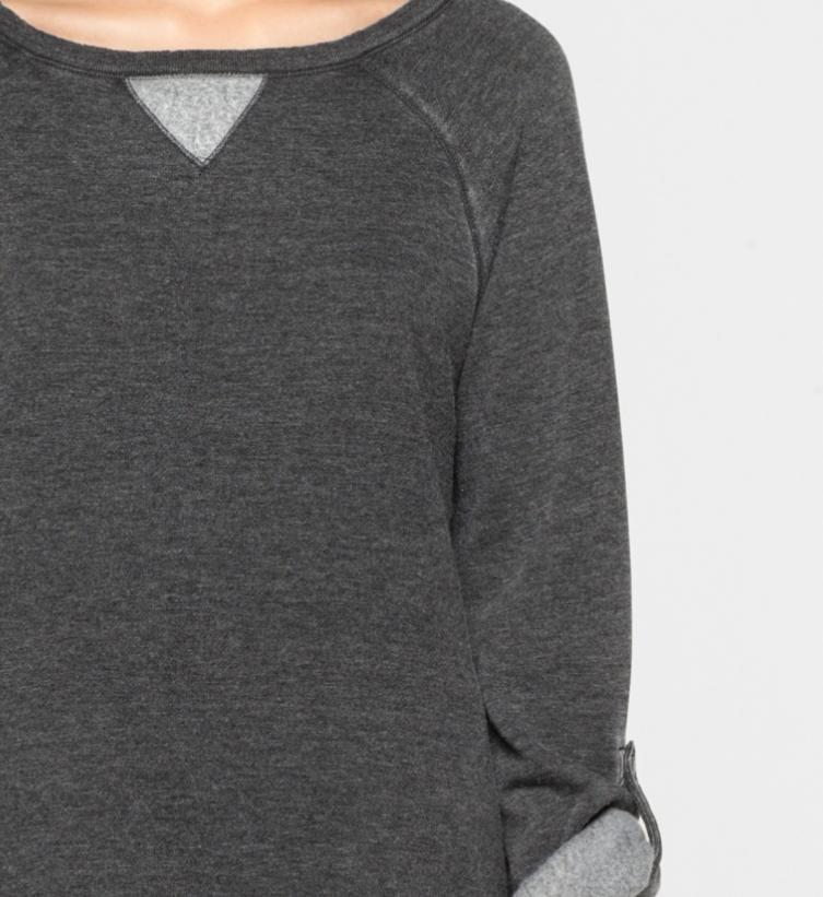 Calvin Klein felpa grigia con risvolti
