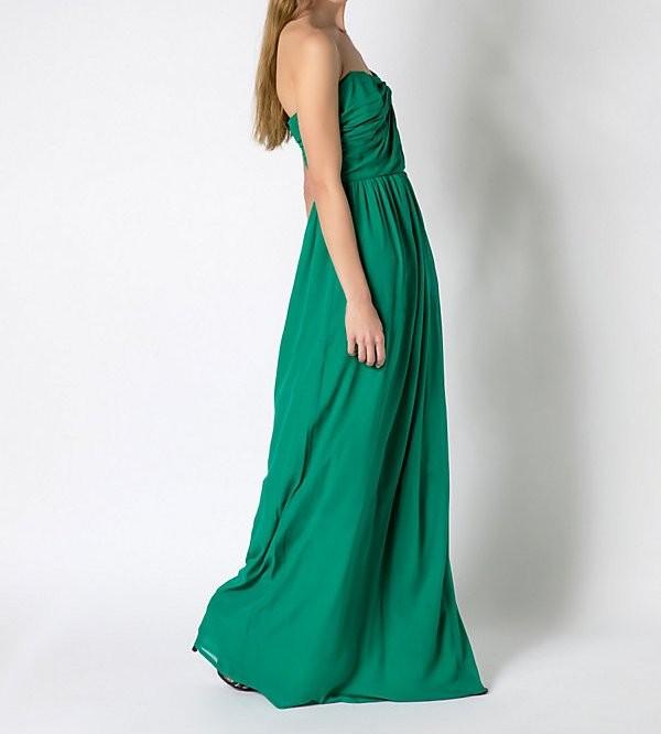 Abiti Da Sera Patrizia Pepe.Patrizia Pepe Long Dress Verde In Seta Unadonna It Il Magazine