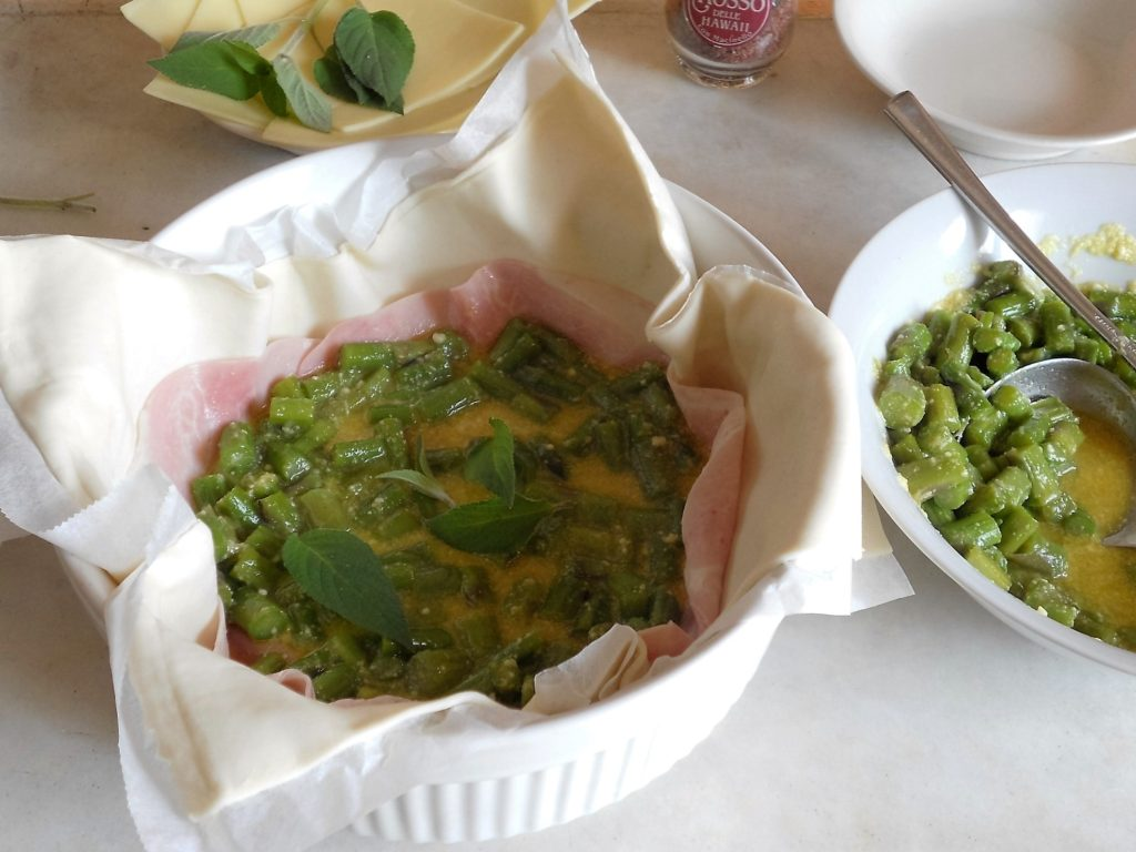 torta salata con asparagi e salvia ananas 5