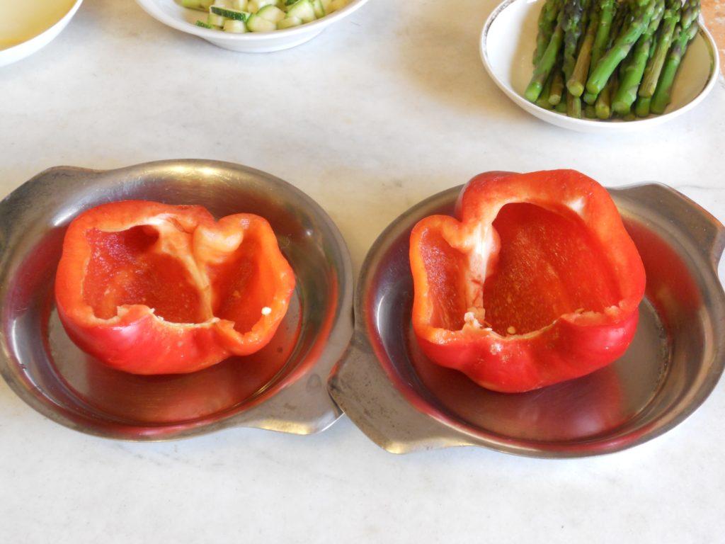 uova e asparagi nel peperone 2