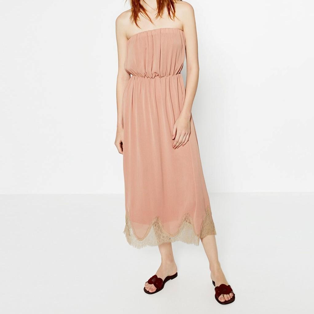 Patrizia Pepe long dress verde in seta  Mango vestito lungo a fiori  Zara  vestito incrociato a fiori  Liu Jo tubino in maglia  Zara abito rosa con  orlo in ... fa0c17b9a20