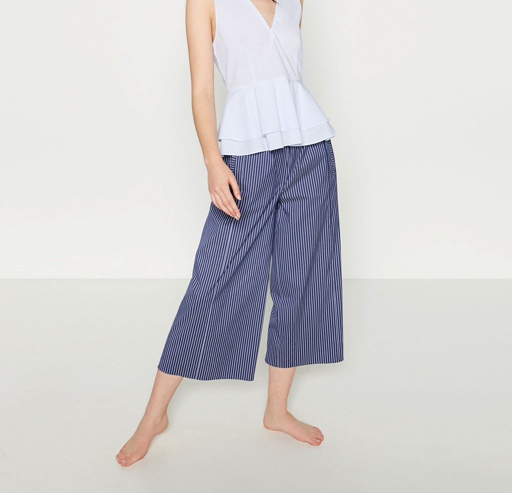 Zara cropped pants a riche