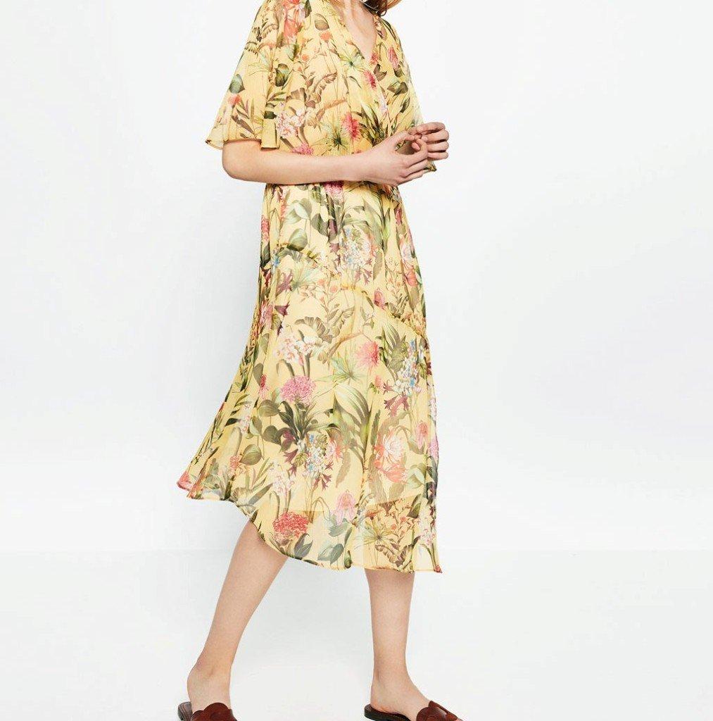 Zara vestito incrociato a fiori UnaDonna.it il magazine